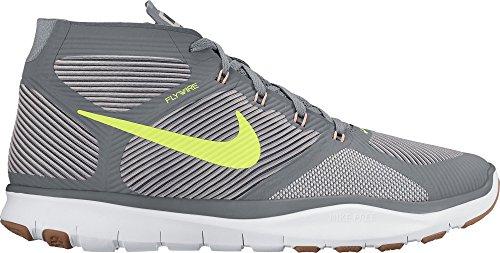 Instinct Nike Free Cool Grigio / Volt / Platino Grigio / Lava Glow Mens Scarpe Da Allenamento Croce Taglia 12