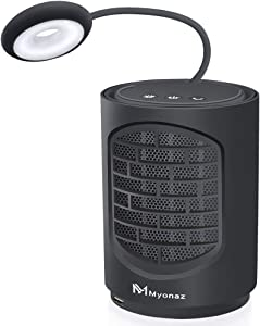 Myonaz Pro 4 In 1 Mini Space Fan Heater with Natural Wind and Heat Reading Light, Portable Fan Heater Suitable For Office & Home(Black)