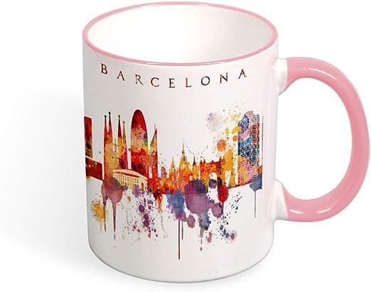 Taza de café Barcelona City Skyline, taza de España, recuerdo de ...
