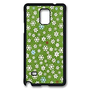 Flower Custom Back Phone Case for Samsung Galaxy Note 4 PC Material Black -1210142
