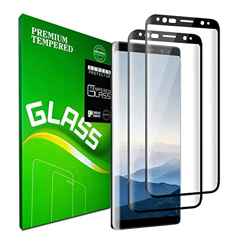 Galaxy S9 Plus Screen Protector, [2pack] Tempered Glass, 9H Hardness, Full Coverage, Bubble Free, Compatible with Samsung Galaxy S9 Plus