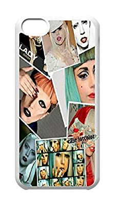 [case forcolor]:Lady Gaga Hard Case for Iphone 5c.