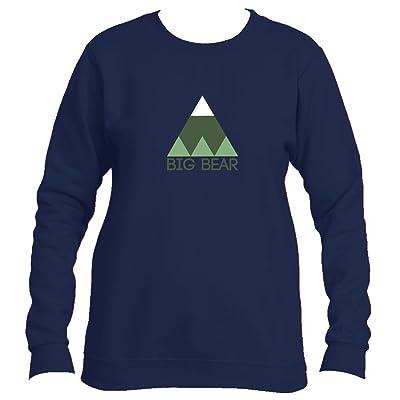 Big Bear Minimal Mountain - California Women's Fleece Crewneck Sweatshirt