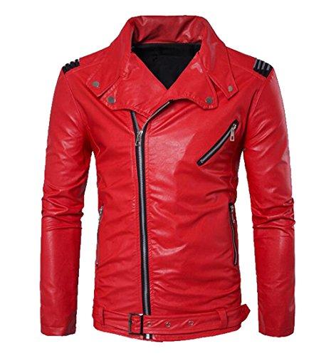 Red Motorcycle Jacket Men - 9