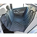 Pet Car Seat Cover, Adjustable Waterproof Safety Hammock for Cars ,Trucks and SUV ,Non-Slip Backing 600D Oxford Fabric with PP Cotton Machine Washable (Black)