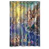 Scottshop Custom The Little Mermaid Shower Curtain High Quality Waterproof Polyester Fabric Bathroom Shower Curtains 48' x 72' Inch