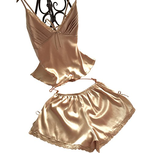 Women Lingerie Sleepwear Pajamas Short Sets Satin chemises