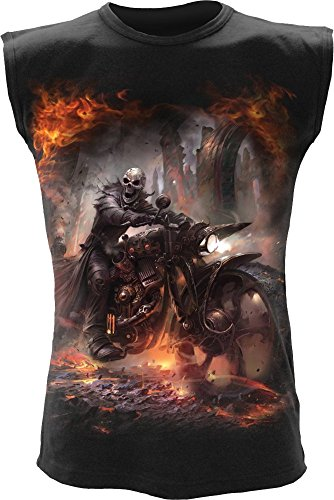 Spiral - Mens - STEAM PUNK RIDER - Sleeveless T-Shirt Black - XL