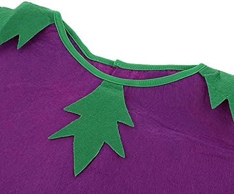 Baoblaze Disfraz Vegetal Berenjena Fruta Verdura Actuación Sombrero Verde Marrón Bosque Tejido Rígido Traje Atractivo: Amazon.es: Juguetes y juegos
