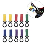 Stroller Hook- Baby Stroller Accessories Colorful Hooks for Diaper Bags, Groceries, Clothing, Purse(Pack of 10)