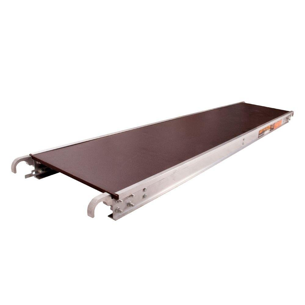 Metaltech M M-MPP719AS M 7 Ft. x 19 in. Aluminum Platform with Anti-Slip Plywood Deck by Metaltech