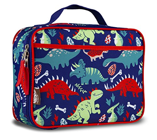 (LONECONE Kids' Insulated Fabric Lunchbox - Cute Patterns for Boys and Girls, Snack-O-Saurus, Standard)