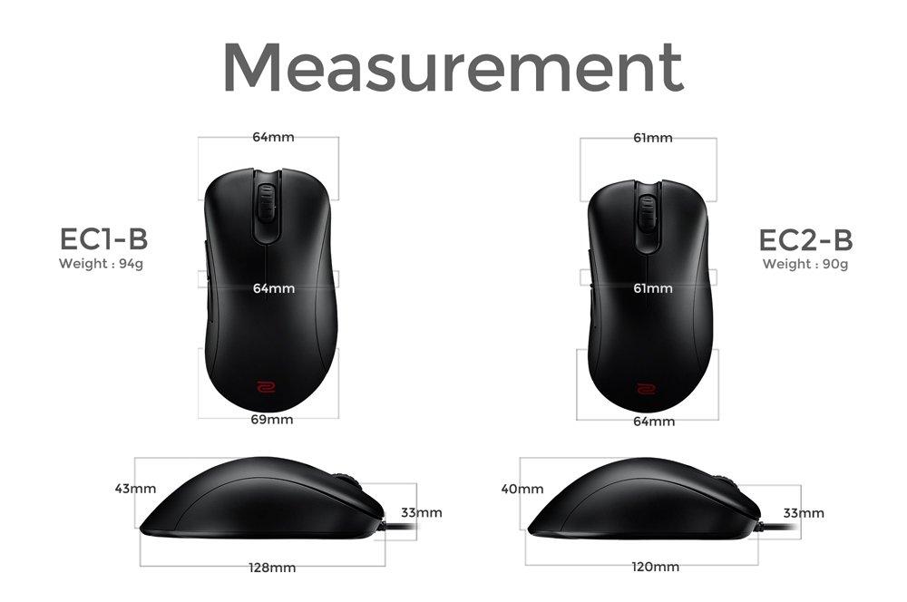 BenQ Zowie EC2-B Ergonomic Gaming Mouse for Esports (Medium) by BenQ (Image #6)