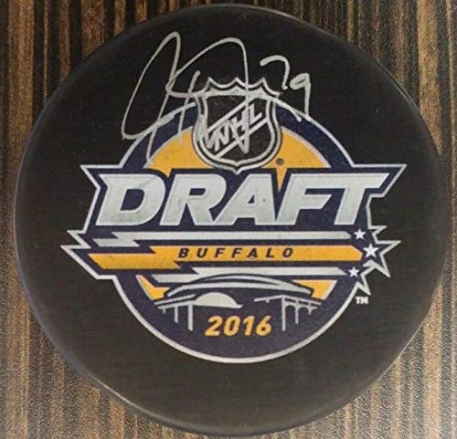 Flyers Carter Hart Autographed 2016 Draft Hockey Puck