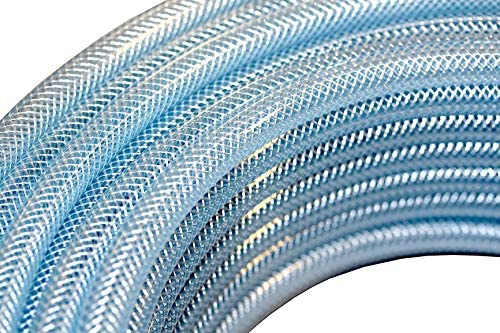 PVC fabric hose transparent for the pumping of water, compressed air and many chemical substances (4 x 3.0 mm   100 m)