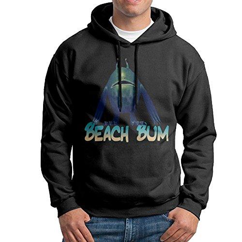 Men's Beach Bum Wig (Bekey Men's Beach Bum Pullover Hoodie Sweatshirt S Black)