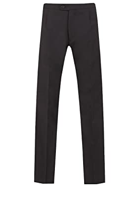 Dobell Pantalón Traje de Corbata Blanca 100% Lana: Amazon.es: Ropa ...
