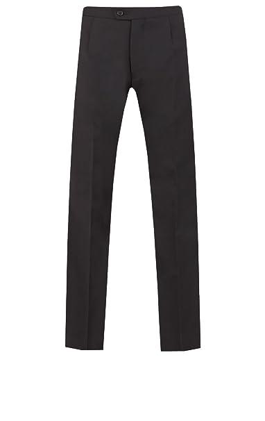 Dobell Pantalón Traje de Corbata Blanca 100% Lana: Amazon.es ...