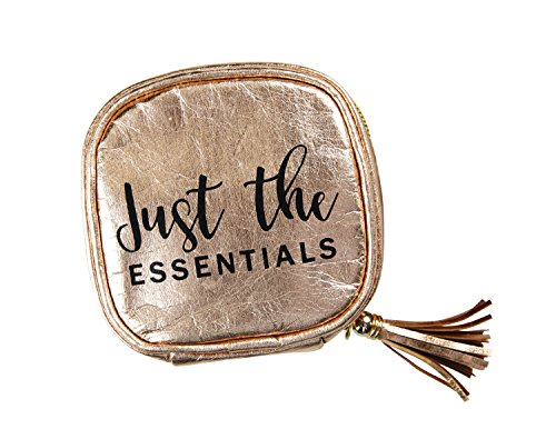 Essential oil carrying case   Rose Gold   Holds 4 standard bottles (15ml) or roller bottles (10ml)   Great for travel or daily use   Eco friendly material