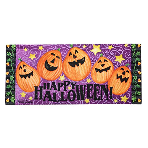 Evergreen Jack-o-Lantern Welcome Sassafras Switch Mat -
