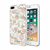 kate spade new york Cell Phone Case for iPhone 8 Plus/7 Plus/6 Plus/6s Plus - Multi Blossom Pink/Gold with Gems