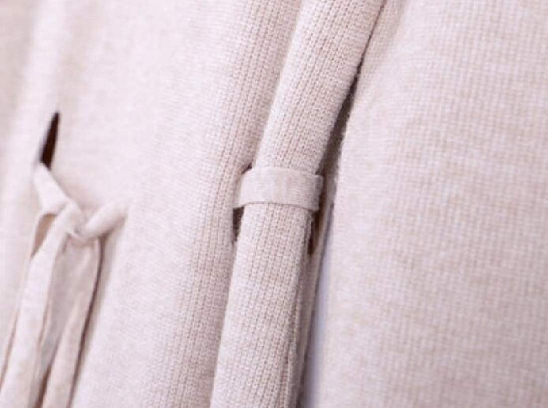 Generic Womens Winter High Neck Long Sleeve Knit Maxi Dresses