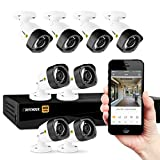 Defender HD 1080p 8 Channel 1TB Security System with 8 Bullet Cameras