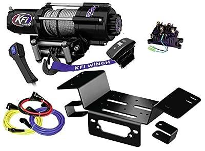 KFI Combo Kit - U45w-R2 4500lbs Stealth Winch & Mount Bracket - 2014-2018 Honda Pioneer SXS 700 & SXS 700-4