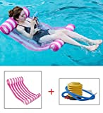 hy-ms swimming pool beach floating water hammock lounger inflatable floating bed beach with 1