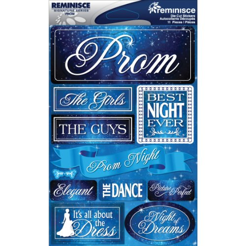 Reminisce Signature Dimensional Stickers, 4.5 by 6-Inch ()