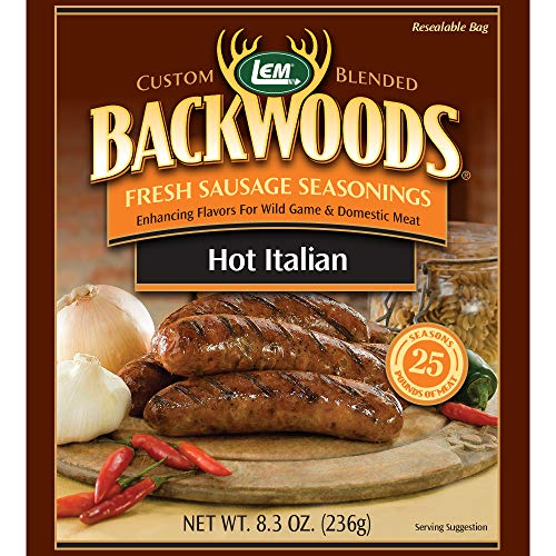 - LEM Backwoods Hot Italian Fresh Sausage Seasoning