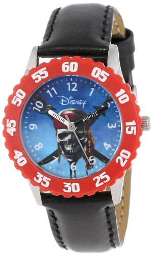 Disney Kids' W000154 Pirates of the Caribbean Stainless Steel Time Teacher Watch