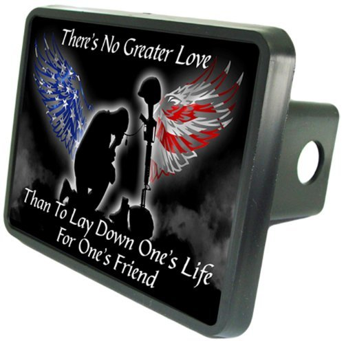 Kneeling Soldier Dedication Hitch Cover 2