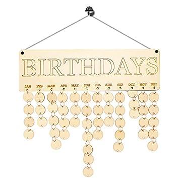 Hoelzern Geburtstagskalender Brett Diy Familie Freunde Geburtstag