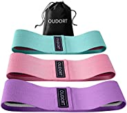 Oudort Resistance Bands for Legs and Butt, Fabric booty bands for Squats, Legs, Butt, Thigh and Hip Workout, A
