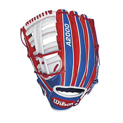 Wilson A2000 CL22 Merica Slow-Pitch Softball Glove, Red/White/Navy, Left Hand Thrower, (White Slow Pitch Softball)