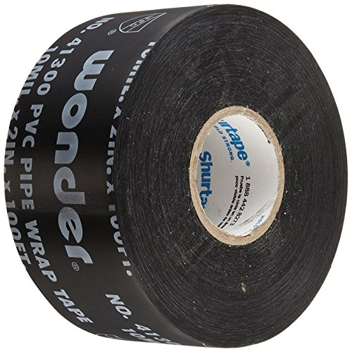 Shurtape PW-100 Corrosion Protection Pipe Wrap Tape: 2 in. x 100 ft. (Black) (Pipe Insulation Tape)