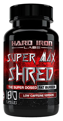 Fat Burner For Men - Thermogenic, & Appetite Suppressant - Best Fat Loss Supplement For Men & Women - Super Max Shred for Weight Loss - Low Caffeine Version - 180 Diet Pills