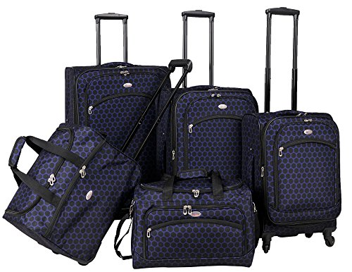 american-flyer-favo-5-piece-spinner-luggage-set-blue-one-size