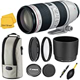 CANON EF 70-200MM f/2.8L IS II USM TELEPHOTO ZOOM LENS WITH ORIGINAL CANON CASE LZ1326 AND ORIGINAL HOOD ET-87 EXCLUSIVE 33RD STREET CAMERA LENS BUNDLE KIT INCLUDING COMMANDER PRO POLORIZING FILTER + U.V. FILTER KIT +LENS CLEANING PEN+LENS BLOWER +33RD STREET CLEANING CLOTH