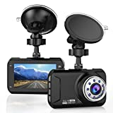 """T-mars 3"""" LCD Dash Cam, Full HD 1080P, 160 Wide Angle Car Dashboard Camera, Vehicle Videos Recorder with Night Vision, G-Sensor, WDR, Loop Recording"""