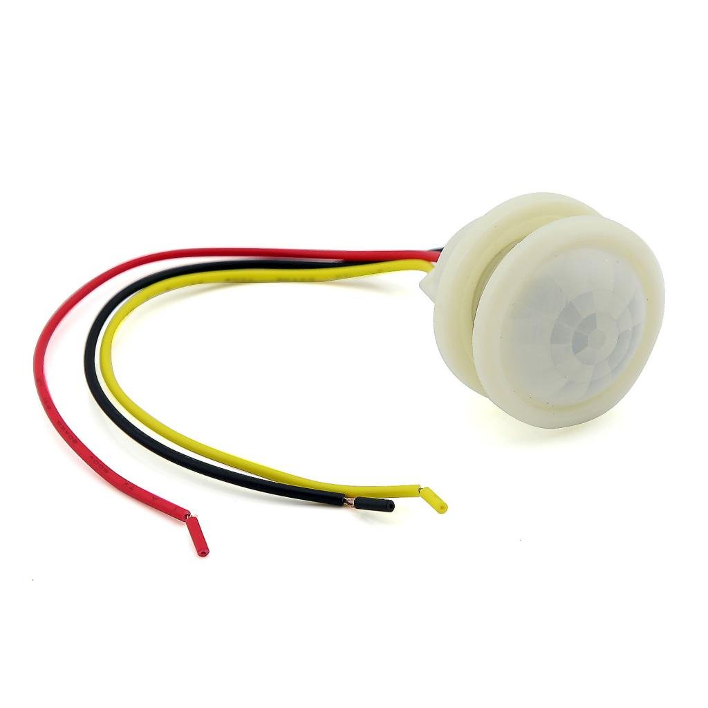 Oculta tipo de pared soporte de techo Wired AC 180 - 220 V Sensor de movimiento interruptor), color blanco: Amazon.es: Industria, empresas y ciencia