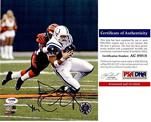 (Signed Dallas Clark Photograph - 8x10 inch Super Bowl XLI Champion Certificate of Authenticity COA) - PSA/DNA)