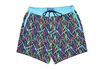 Sttarwish Blue Swim Short For Men