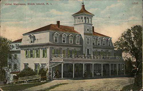 Hotel Manisses Block Island, Rhode Island Original Vintage Postcard (Island Postcard)