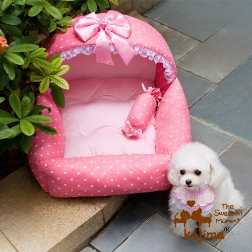 Colorfulhouse Princess Bed Design Puppy Bed Soft Suede Dog House Bed (Princess Pink) For Sale
