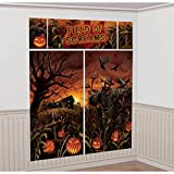 Field of Screams Halloween Party Spooky Pumpkin Patch Scene Setter Decorating Kit, Vinyl, Pack of 5