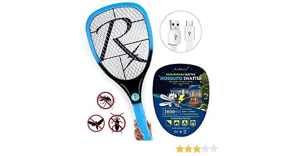 Samoa Matamoscas eléctrico mosca raqueta mosquitos moscas USB con ...