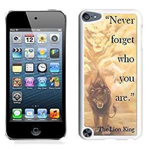 Customized$Unique Ipod Touch 5 Case Design with Lion King White Phone Case for Ipod Touch 5 5th Generation