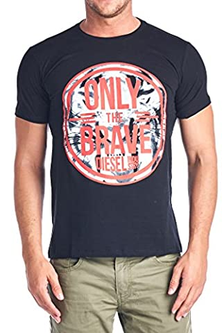 Diesel Mens T Shirt Only The Brave Jonn Tee, Black, Medium (Men Diesel Top)